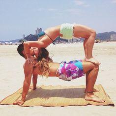Image about girl in You & I by tiedai on We Heart It Couples Yoga Poses, Acro Yoga Poses, Yoga Poses For Two, Partner Yoga Poses, Fit Couples, Dance Poses, Yoga Inspiration, Gymnastics Tricks, Libido