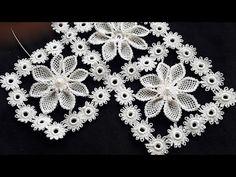 290:YENİ⚠️HARİKA NİŞAN BOHÇASI(2)İĞNE OYASI MODELİ ANLATIMLI YAPILIŞI ✔✔✔ - YouTube Crochet Flower Tutorial, Crochet Flower Patterns, Baby Knitting Patterns, Crochet Flowers, Filet Crochet, Irish Crochet, Crochet Stitches, Knit Crochet, Diy Fashion Projects