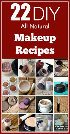 22 all natural DIY makeup recipes, from foundation and powders to even mascara and liners. - Ruth McKean - - 22 all natural DIY makeup recipes, from foundation and powders to even mascara and liners. Diy Beauté, All Natural Makeup, Organic Makeup, Natural Beauty, Homemade Cosmetics, Make Beauty, Diy Makeup, Makeup Tips, Dress Makeup