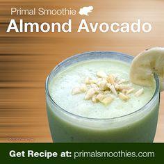 Primal/Paleo Dairy Free Low Carb Smoothie Recipe: Almond Avocado