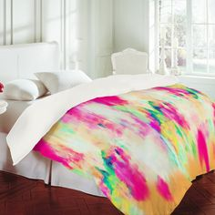 Buy Duvet Cover with Electric Haze designed by Amy Sia. One of many amazing home décor accessories items available at Deny Designs. Dream Bedroom, Home Bedroom, Bedroom Decor, Bedroom Ideas, Master Bedroom, My New Room, Bed Covers, Bed Spreads, Decoration