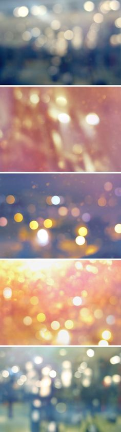 5 Bokeh textures - these look amazing with text overlaid in PhotoShop.  Such pretty textures.