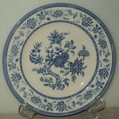Churchill Indian Tree Blue White Salad Plate  - This Item is for sale at LB General Store http://stores.ebay.com/LB-General-Store ~Free Domestic Shipping