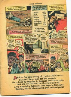 Dodgers Blue Heaven: Scans of the 1950 Jackie Robinson Comic - the Second Half Dodger Blue, Dodgers Baseball, Jackie Robinson, Two By Two, Heaven, Comics, Sports, Hs Sports, Sky