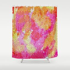 Watercolor Stained Glass Shower Curtain by Celeste Sheffey of Khoncepts - $68.00  #homedecor #bathroom #curtain