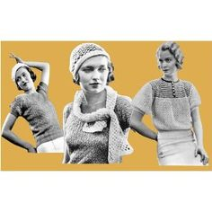 1932 Knitted & #Crochet Patterns Misses & Women's Vintage Sweaters Scarfs & Caps.