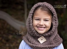Hooded Cowl Knitting Pattern 386
