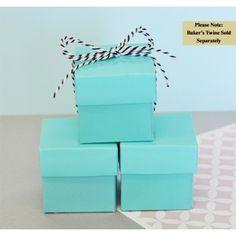Mini Cube Boxes - Blue (set of 12) #wedding #somethingblue #daisydays