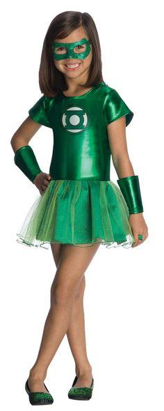 Girl's Green Lantern Ballerina Tutu Costume
