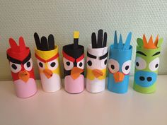 Piinan Ploki: Angry Birds-askartelu (in finnish) Crafts For Kids To Make, Kids Crafts, Easy Crafts, Easy Diy, Arts And Crafts, Toilet Paper Roll Crafts, Paper Crafts, Bug Crafts, Craft Club