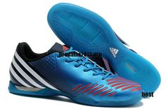 new style 4b147 79bbf Adidas Predator LZ IC Clear Bright Blue White Infrared Beckham Soccer Shoes   52.39 Indoor Soccer Cleats