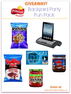 Enter to win a Summer party pack from Frito-Lay on Celebrations At Home blog