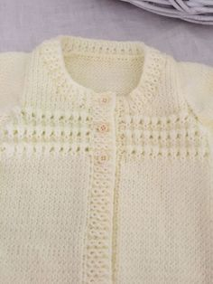 Hand Knitted Baby Cardigan Jacket Knitted In Baby Merino 1 Month