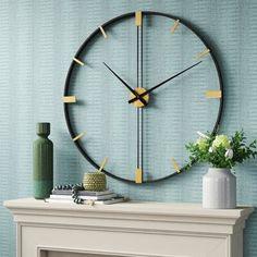 Diy Wall Art, Large Wall Art, Wall Decor, Wall Clock Design, Large Clock, Diy Clock, Luxury Home Decor, Decorative Pillows, Decor Pillows