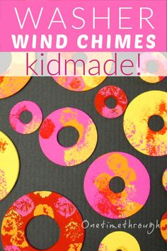 How to Make Washer Wind Chimes for Spring - an awesome kid-made craft guaranteed to brighten up any garden! Spring One, Summer, Art For Kids, Crafts For Kids, Wind Chimes Craft, Red Crafts, Epic Kids, Clothes Pegs, Spring Garden