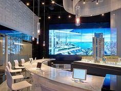 Digital signage video wall selling high-rise condos in Miami Luxury Condo, Luxury Interior, Digital Signage Displays, Luxury Sale, Sales Center, Interactive Display, Retail Store Design, Video Wall, Digital Wall