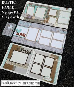 Rustic Home Fundamental Kit of the Month creates 6 lovely pages for you to scrapbook your memories.  Click on the link below for more details or email me @ ilov2cr84u@gmail.com to order your kit.