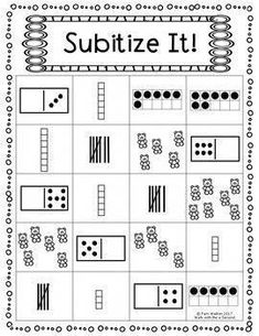 Subitize It FREEBIE for K and Grade - Kids education and learning acts Preschool Math, Math Classroom, Kindergarten Math, Fun Math, Math Activities, Math Games Grade 1, Number Sense Kindergarten, Number Sense Activities, 1st Grade Math Worksheets