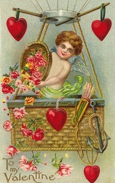 ah the hearts Vintage Valentine