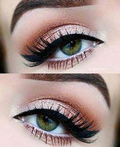 37  ideas eye makeup orange eyelashes #makeup #eye #EyeMakeupCutCrease Bronze Eye Makeup, Neutral Eye Makeup, Red Eye Makeup, Pretty Eye Makeup, Makeup Looks For Green Eyes, Orange Makeup, Neutral Eyes, Pretty Eyes, Simple Makeup