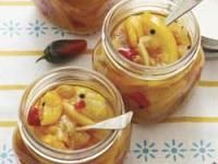 When you think of jam, it is probably strawberries or blueberries that come to mind. But homemade Peach Jam is an outstanding sweet treat! This simple jam can be made even easier by using a food mill. How To Pickle Peppers, Pickled Pepper Recipe, Rhubarb Chutney, Peach Jam, Thing 1, Chutney Recipes, Dried Apricots, Stuffed Green Peppers, Daikon Recipe