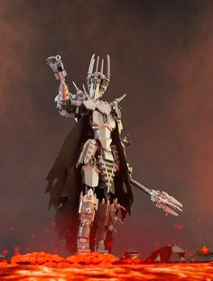 The Dark Lord of Mordor demands that you submit to this awesome custom LEGO Sauron and get its building instructions for FREE. Lego Mecha, Lego Robot, Lego Bionicle, Lego Duplo, Lego War, Lego Poster, Lego Dragon, Van Lego, Lego Creative