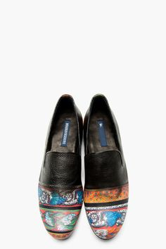 MIHARAYASUHIRO Black & Orange Patterned Ombre Loafer #PurelyInspiration