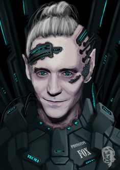 Shadowrun male Character Decker Elv Artwork by harliquin