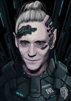 Shadowrun male Character Decker Elv Artwork by harliquin