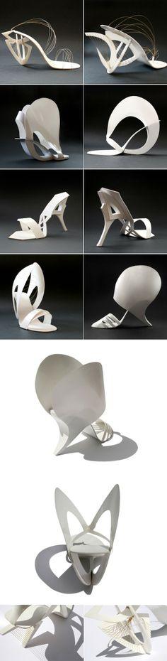 Le designer Tea Petrovic est à l'origine de cette collection de chaussures (importables) basée sur les travaux du sculpteur russe Naum Gabo et de l'architecte Santiago Calatrava.