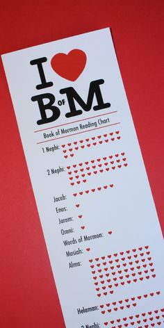 Printable BOM Reading Chart - cute idea to start the year off.