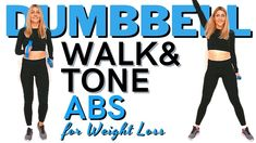 🔥WALK & TONE DUMBBELL WORKOUT🔥LOW INTENSITY FAT BURNING DUMBBELL POWER WALK🔥ARMS & ABS TONING🔥 - YouTube Arms And Abs, Walking Exercise, Toned Abs, Dumbbell Workout, Workout Videos, Fat Burning, Cardio, Burns, Muscle