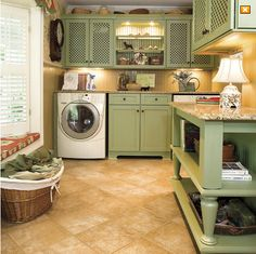 This is quite a laundry room!