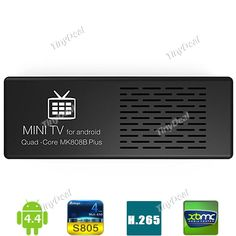 MK808B PLUS Android 4.4 Amlogic S805 Quad-core 1/8GB H.265 Video Recording Wirless TV BOX Dongle ETATH-365448