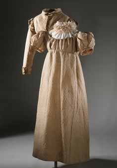 Girl's Dress and Spencer Jacket | England, circa 1817 Brocaded silk/ wool blend | LACMA Collections