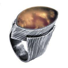 PMC Sterling and Resin Ring by award-winning design and Senior PMC Instructor Patrik Kusek.