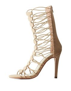 9d079bd6aafa Caged Gladiator Dress Sandals  Charlotte Russe