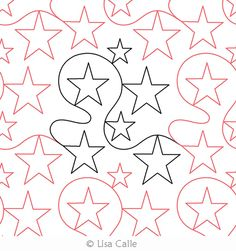 Digital Quilting Design Simply Stars by Lisa Calle.