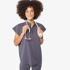 Shop FIGS for comfortable designer scrubs and medical apparel that's awesome. Get ready to love your scrubs! Col Mandarin, Mandarin Collar, Scrubs Outfit, Lab Coats, Medical Uniforms, Scrub Pants, Cosplay, Scrub Tops, Along The Way