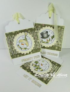 LOTV - Snowmen Trio Tags by Donna Mosley