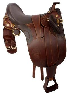 Australian Saddle!!!!! I own this one!! And love it! Very comfortable! And perfect for my Arabian with his high withers!