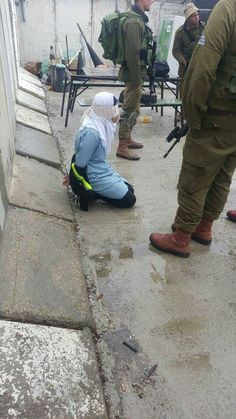 The mighty Israeli Diaper Force IDF kidnap a Palestinian school girl handcuff her and blindfold her In self defense of course Heiliges Land, Israel Palestine, Oppression, Allah, Combat Boots, Panda, History, Children, Behance