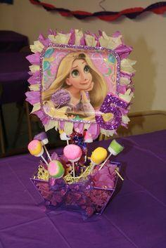 Centro de mesa tema: Rapunzel