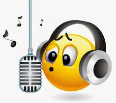 Sing a song with cute emoticon.