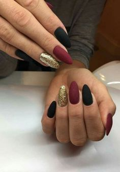 73 Most Stunning Dark Nails Inspirational Ideas ( Acrylic Nails, Matte Nails) ♥ - Diaror Diary - Page 4 ♥ 𝕴𝖋 𝖀 𝕷𝖎𝖐𝖊, 𝕱𝖔𝖑𝖑𝖔𝖜 𝖀𝖘!♥ ♥ ♥ ♥ ♥ ♥ ♥ ♥ ♥ ♥ ♥ ♥ ღ♥ Everythings about Stunning nails design you may love! ღ♥ s҉e҉x҉y҉ Cute Acrylic Nails, Acrylic Nail Designs, Black Nail Designs, Nail Art Designs, Acrylic Gel, Acrylic Colors, Autumn Nails, Winter Nails, Spring Nails