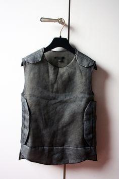 styleinsp:  Helmut Lang silk bulletproof vest