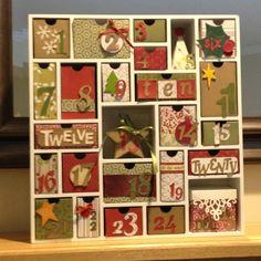 My shadow box advent calendar! Putting away Christmas decorations is so depressing...