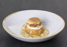 mascarpone cream, salted caramel, toffee popcorn served at coda eatery First Dates Tv Show, Dublin Restaurants, Toffee Popcorn, 3 Course Meals, Cool Restaurant, Dinner Menu, Prosecco, Great Recipes, Caramel