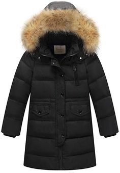 Fashion Autumn Cotton Coat Kids Girls Clothes Winter Faux Fur Hooded Parka Down Coat Puffer Jacket Padded Overcoat Outerwear Winter Outfits For Girls, Kids Outfits Girls, Boy Outfits, Kids Girls, Girls Dresses, Hooded Winter Coat, Winter Parka, Hooded Parka, Hooded Jacket