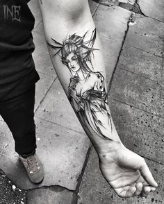 Sketch style forearm work